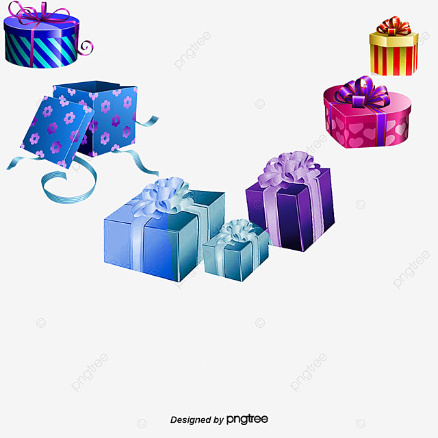 Cute gift box border PNG and Vector for Free Download