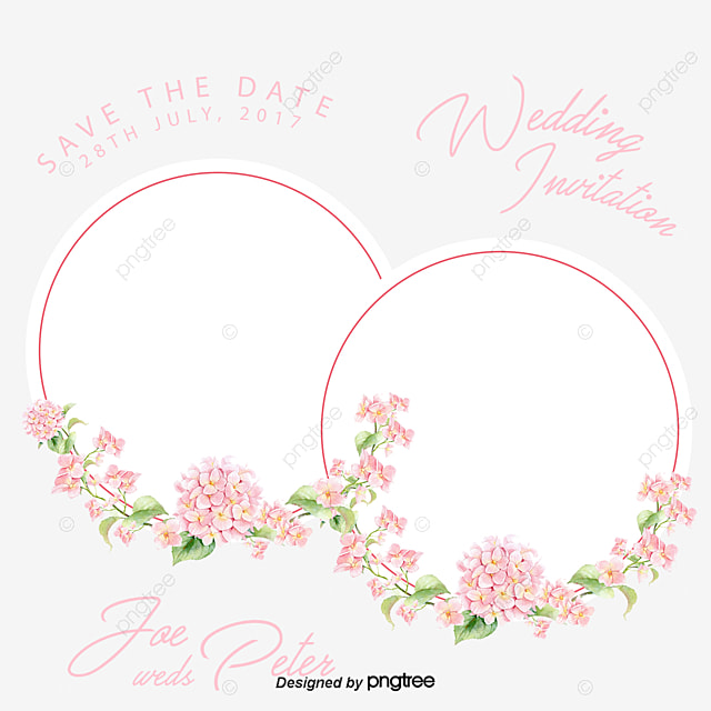 Round Beautifully Decorated Flower Frame Vector Png Hand Painted Exquisite