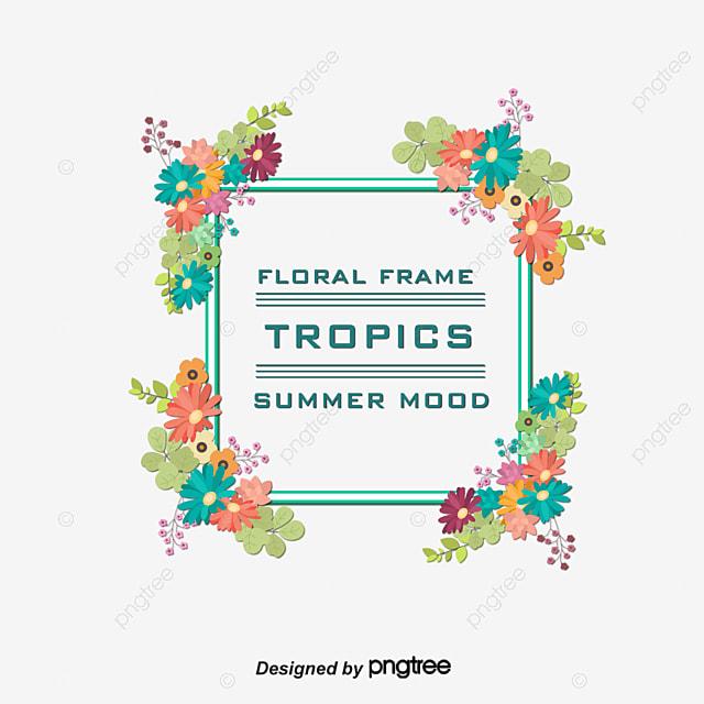 Ajuste De Colorido De La Flor De Las Fronteras, Vector PNG, Plantas ...