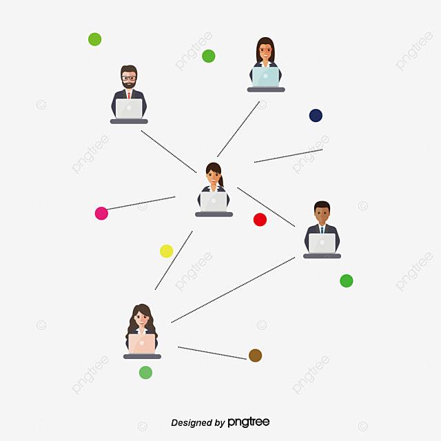 le dessin de la structure de r u00e9seau social le vecteur de