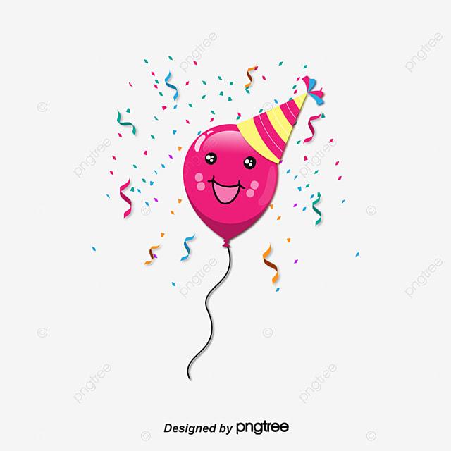 Dibujos animados de globo rosa Vector PNG Dibujos Animados De