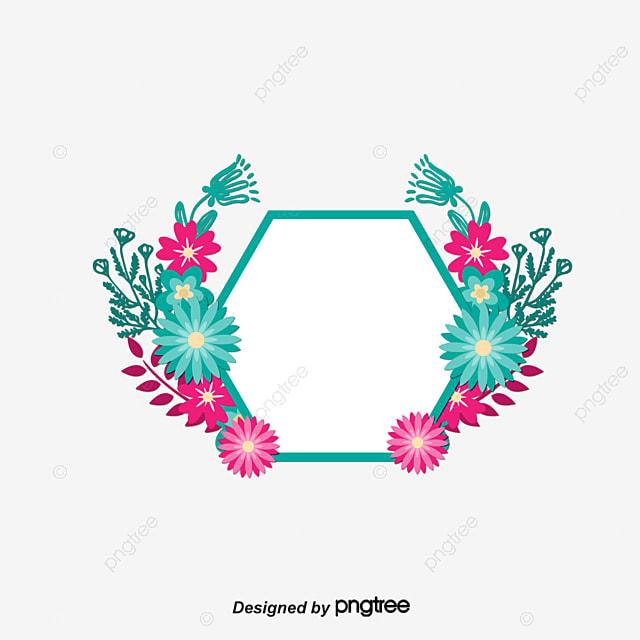 Decoracion De Flores De Color Rosa Marco Vector Png Pink Flores De