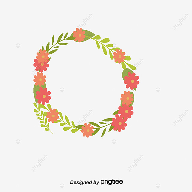 Round Cute Flower Borders Vector Png Border Lovely Flowers Free PNG And