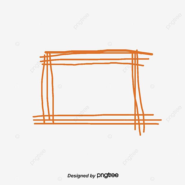 Orange graffiti border, Vector Png, Orange Border, Hand ...