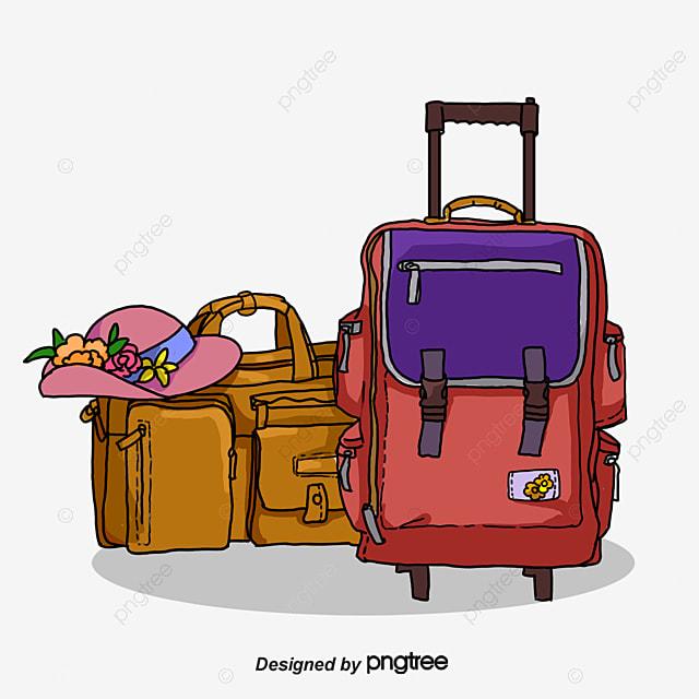 Bagage de voyage de dessins anim s voyage bagages valise - Dessin de valise ...