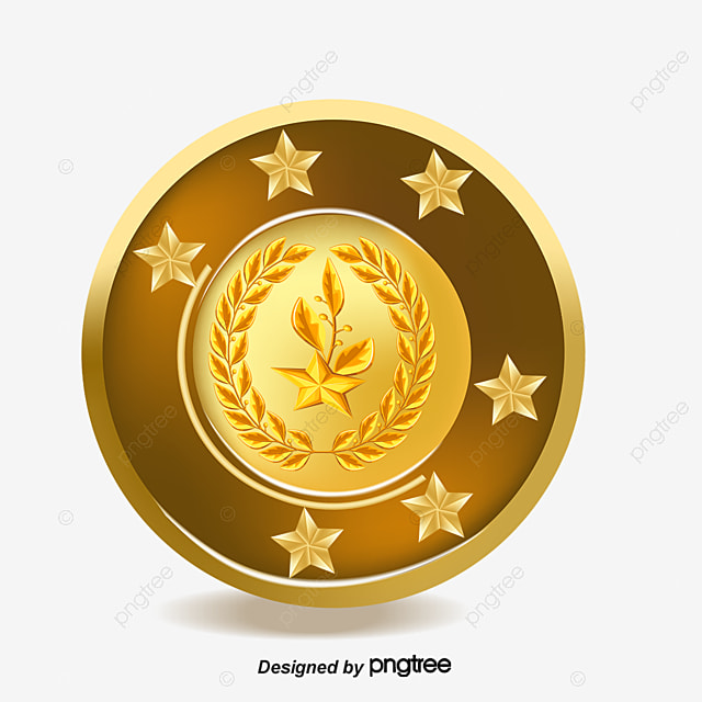 vector gold medal  luxurious  gold medal  gold png