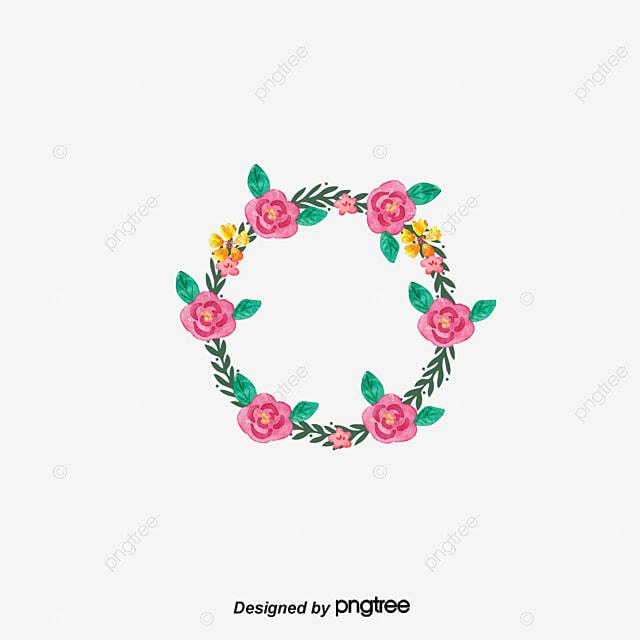 transparent flowers round decorative frame vector png