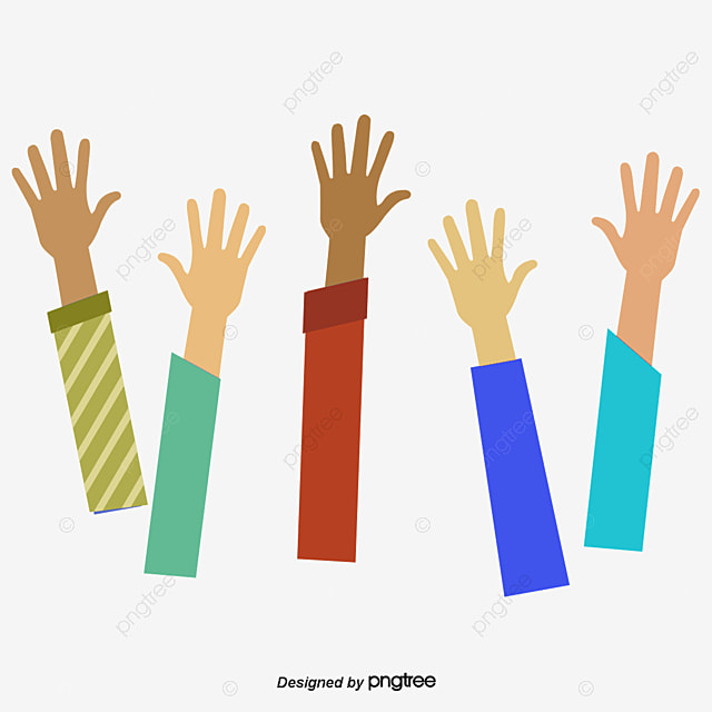 Everybody Stretched Out His Hand Vector Png Raise Your Hands Raise Your Hand