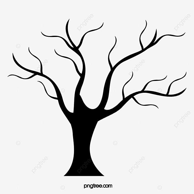 Pintado A Mano De Arboles Tree Vector Tree Bar Ramas
