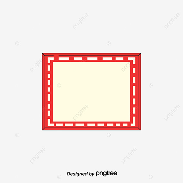 Red title border, Red Frame, Red Border, Text Border PNG ...