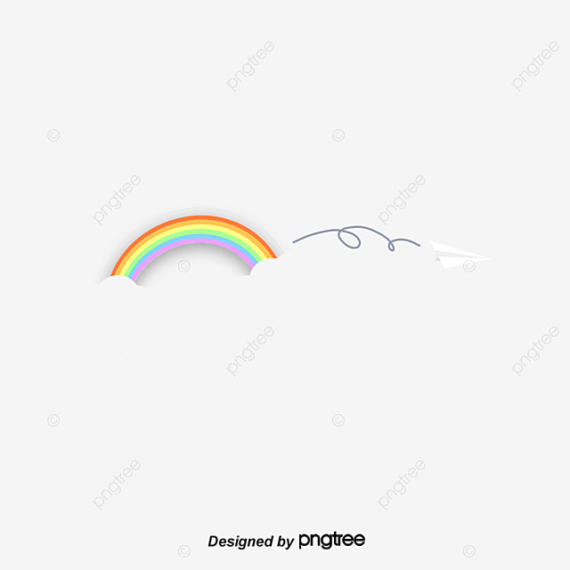 cartoon cute paper airplane rainbow dividing line  cute paper airplane icon vector paper airplane vector freepik