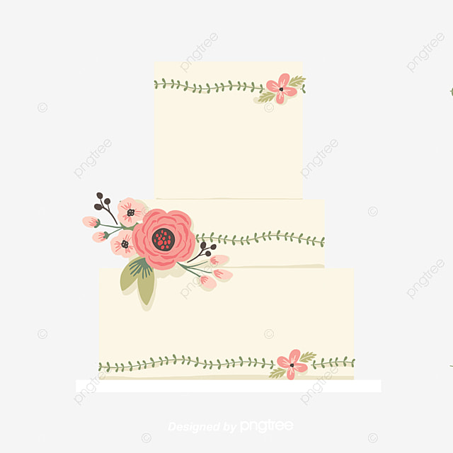 Wedding Cake Hand Painted Wedding Clipart Cake Clipart Cake Png