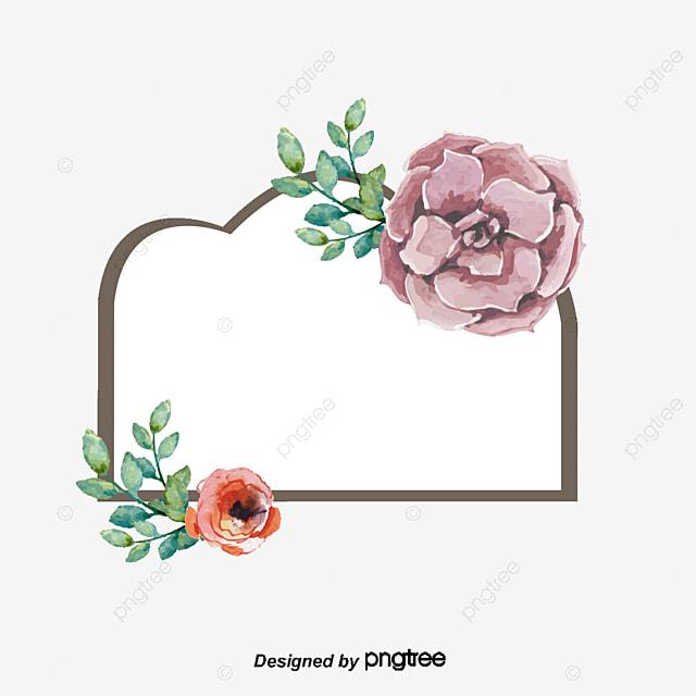 Favoritos Bela Moldura Estilo De Etiqueta De Casamento Flores Pintadas à Mão  AA57