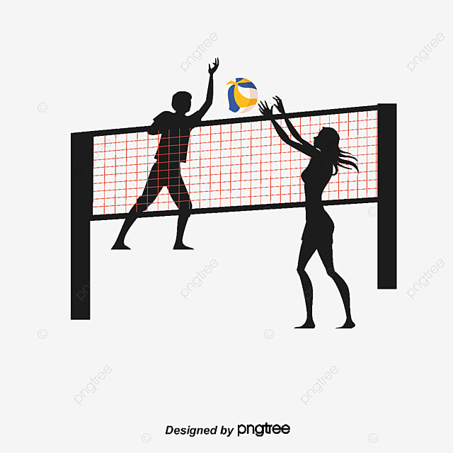 Smash And Block The Volleyball Player Beach Net PNG