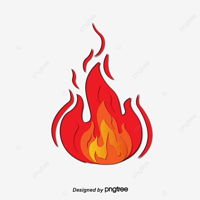 Les Flammes De Dessins Animés Flamme Dessin Rouge Png Et Vecteur