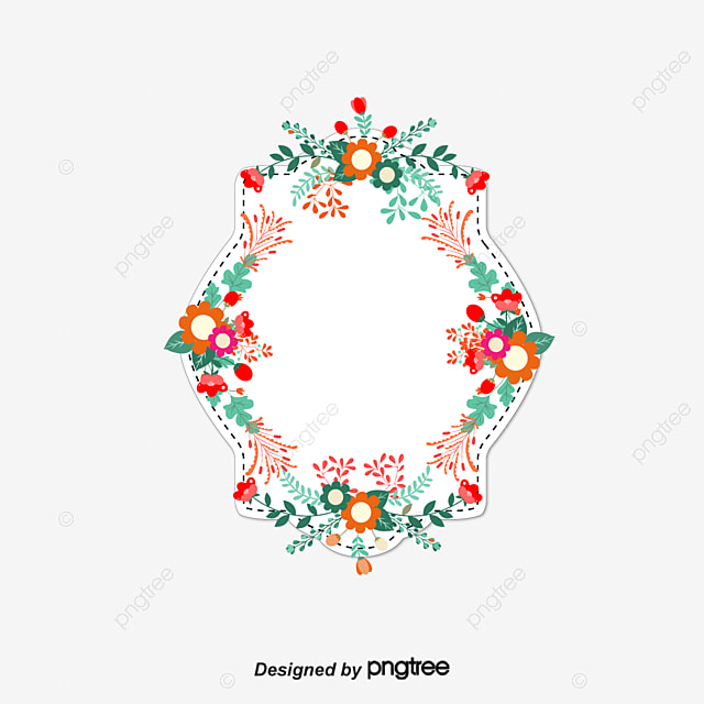 Romântico Flores Moldura Decorativa Vector Png Convite Convite Capa