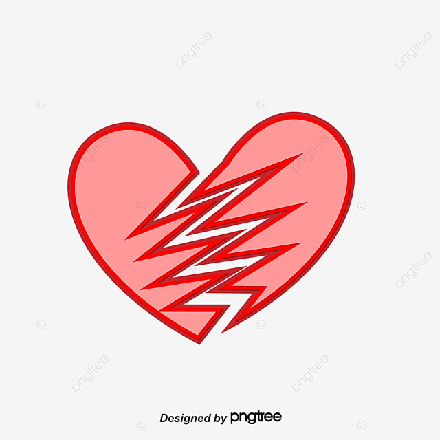 a broken heart vector diagram red heart heart shaped png and rh pngtree com broken heart vector download broken heart vector free download
