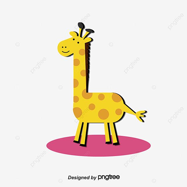 Un Adorable Jirafa Diagrama Vectorial Animales De Dibujos Animados