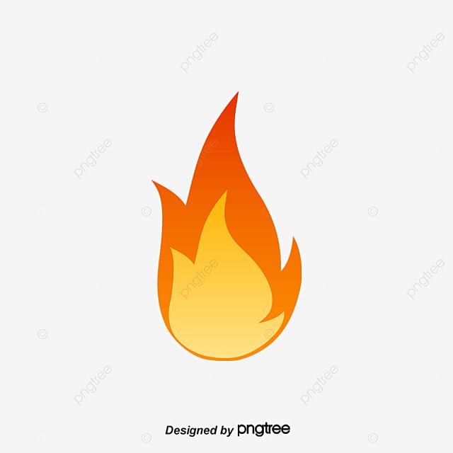 Feu Rouge Rouge Dessin Flamme Png Et Vecteur Pour