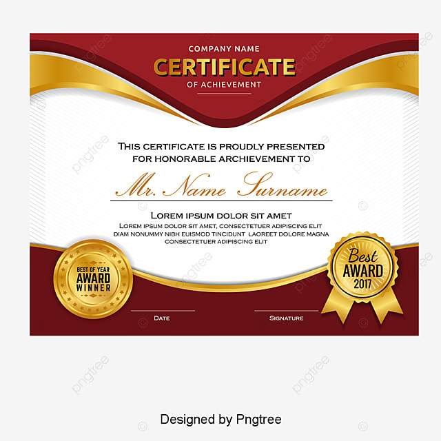Atmospheric high end gold border certificate certificate template atmospheric high end gold border certificate certificate template training certificate english certificate free png and vector yadclub Images