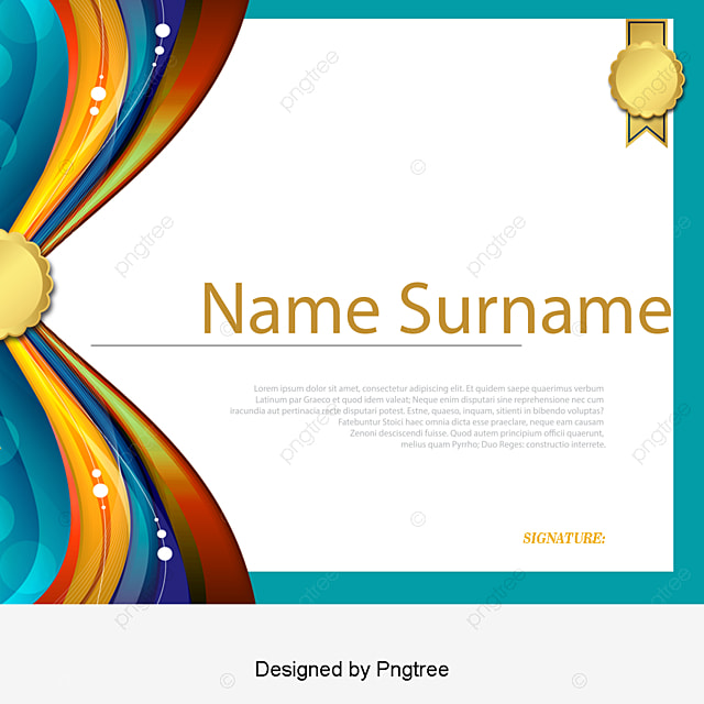 Gold Border English Certificate Certificate Template