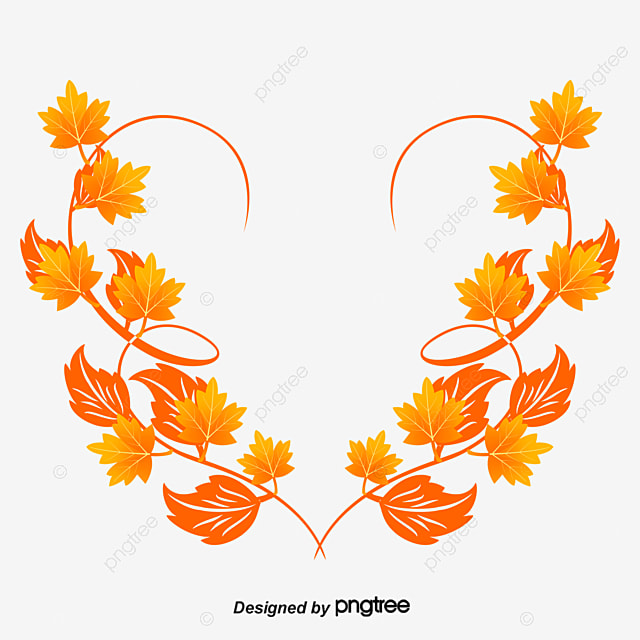 autumn leaves border autumn tree borders png and vector