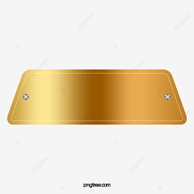 Gold brushed nameplate famous brand nameplate png and - Brass name plate designs for home ...