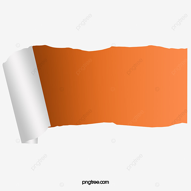 Torn Paper Tearing Orange Background Paper Png Image