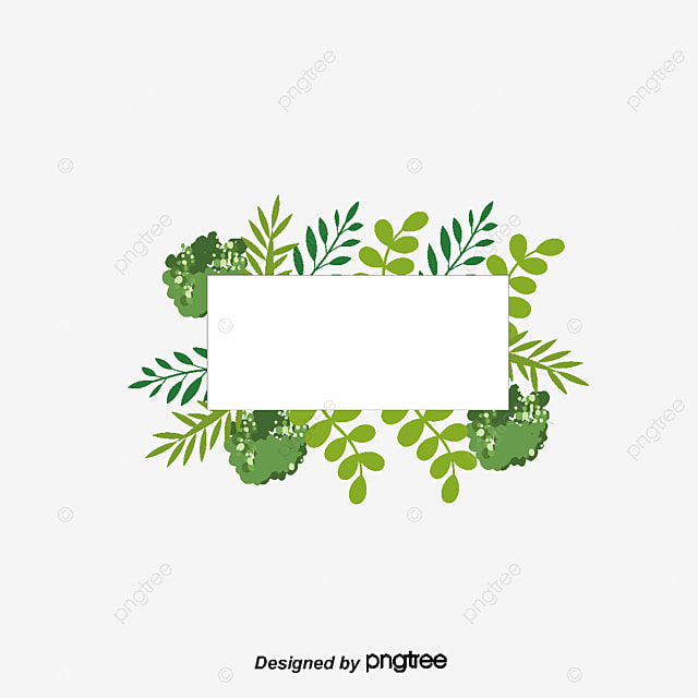green plant title box vector png hand painted plants small fresh rh pngtree com vector plants free download vector pants
