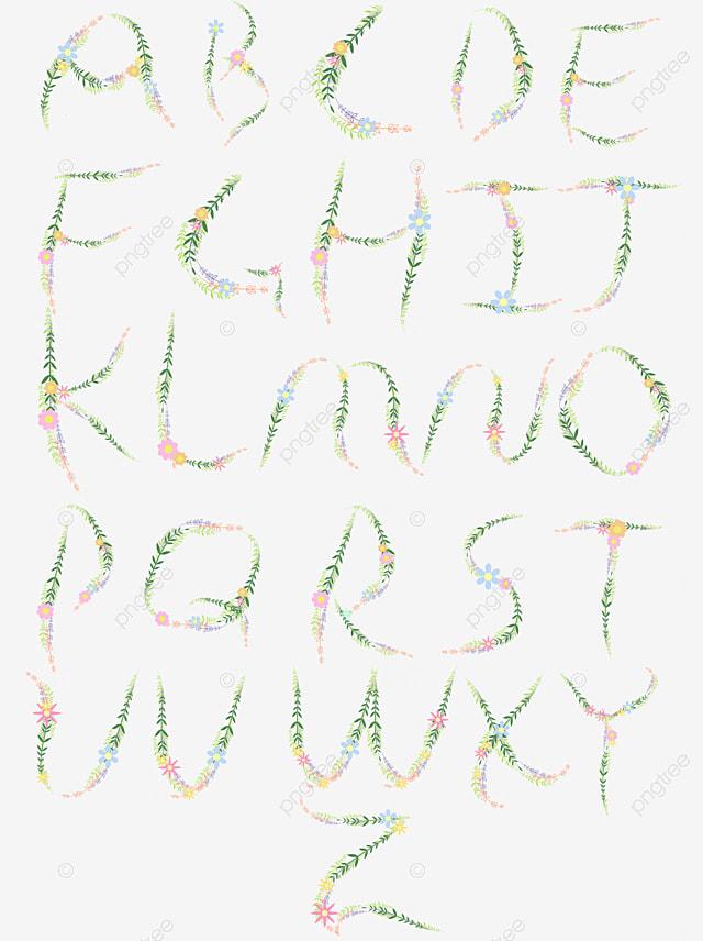 Alfabeto de flores coloridas flores pintados m o flor for Bouquet de fleurs 7 lettres
