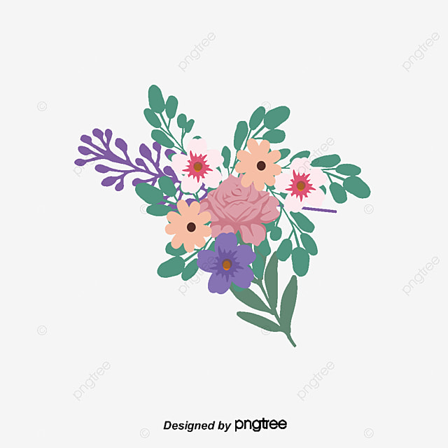 Beautiful Hand Holding Flowers, Vector Png, Romantic Bouquet ...