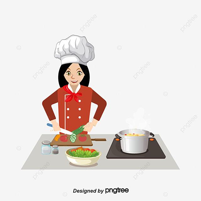 La madre es cocinar dibujos pintados a mano cortar las for Cocinar imagenes animadas