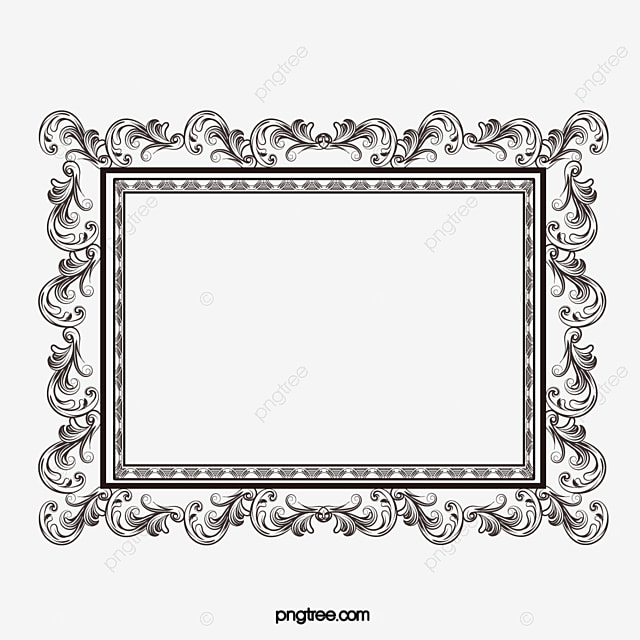 Gothic Painting And Calligraphy Border Frame Square PNG Vector