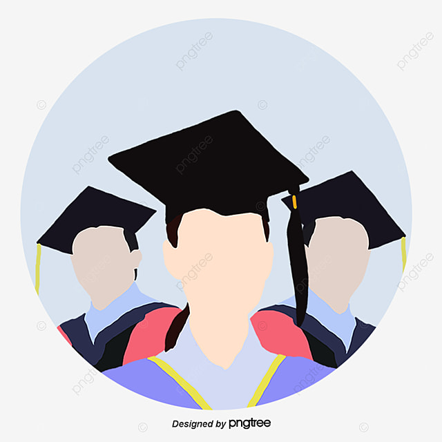 Master Graduate Icon Cartoon Flat Bachelor Cap Png And