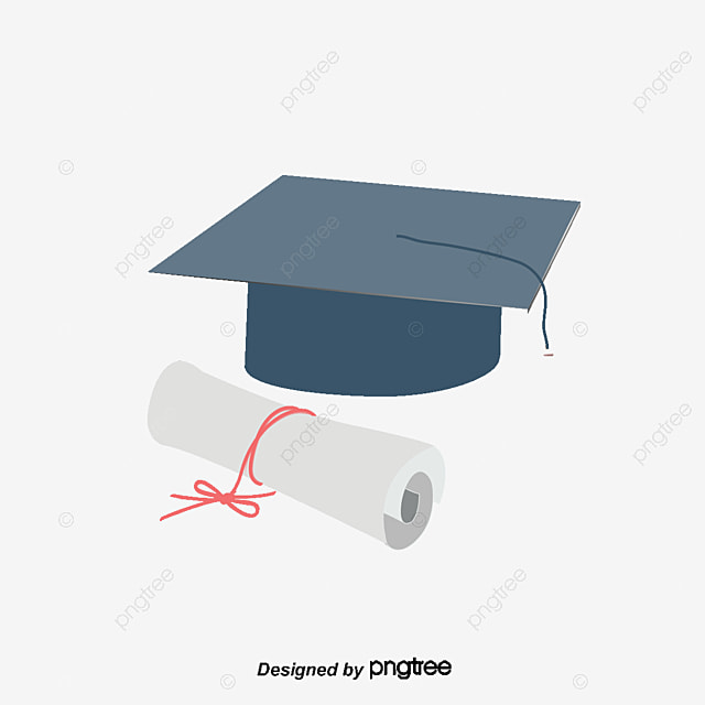 Bachelor Cap And Graduation Certificate Icon Cap Vector