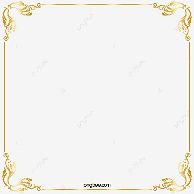 Golden Border Gold Line Frame Png Image And Clipart For