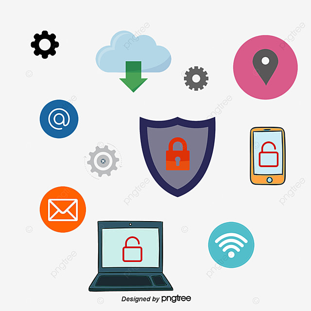 Internet Information Security Poster Vector Png The PNG And
