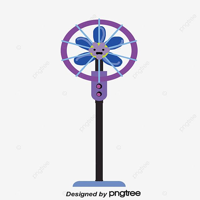 Electric Fan Cartoon : Blue cartoon fan vector png household appliances