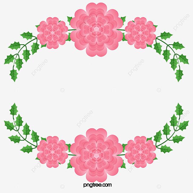 Romantic pink flower bones border vector png pink pink flower romantic pink flower bones border vector png pink pink flower rattan png and mightylinksfo