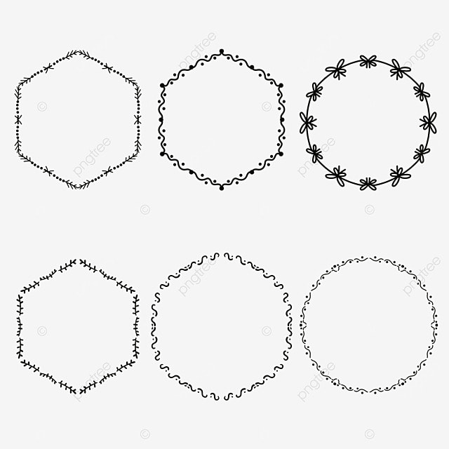 Round Border Simple Style Fashion PNG And Vector