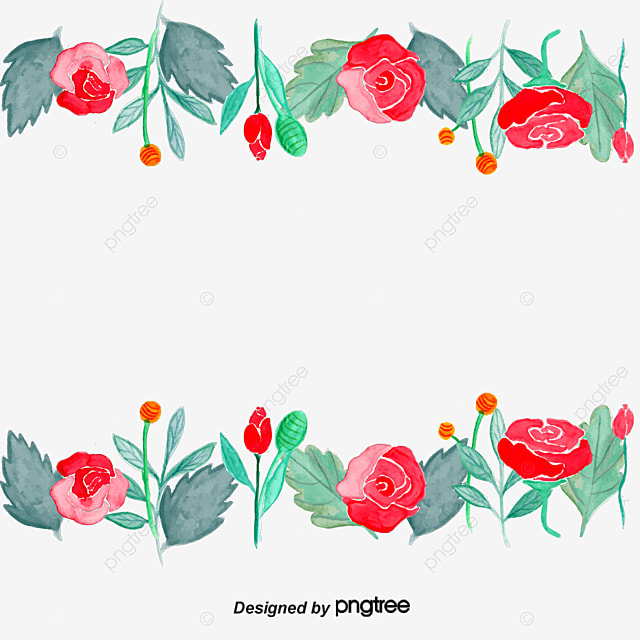 Flowers Frame Color Border Simple Style Fashion Png And Vector