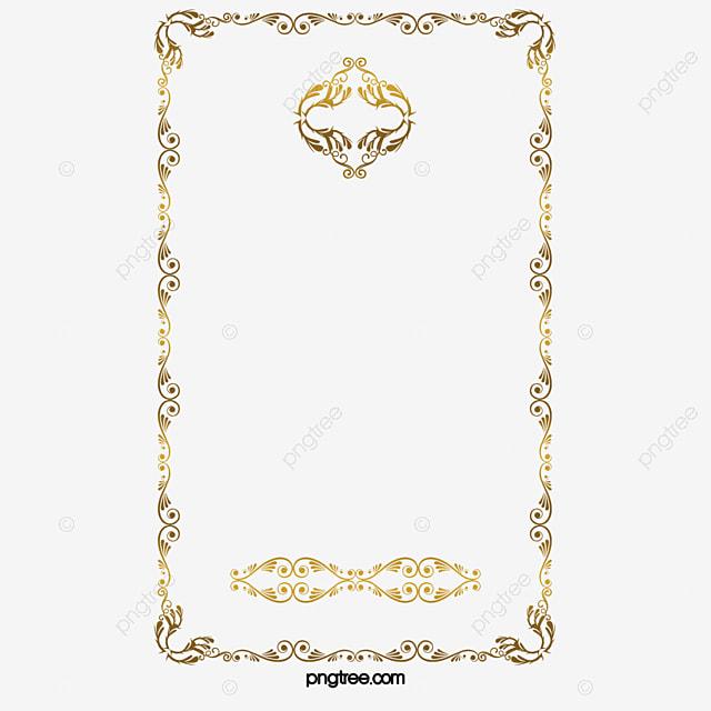 or de motif de bordure motifs lace r u00e9tro motif image png