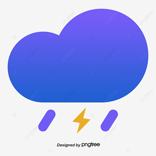 blue thunderstorm weather symbol vector png blue border