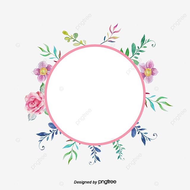 Цветы по кругу png
