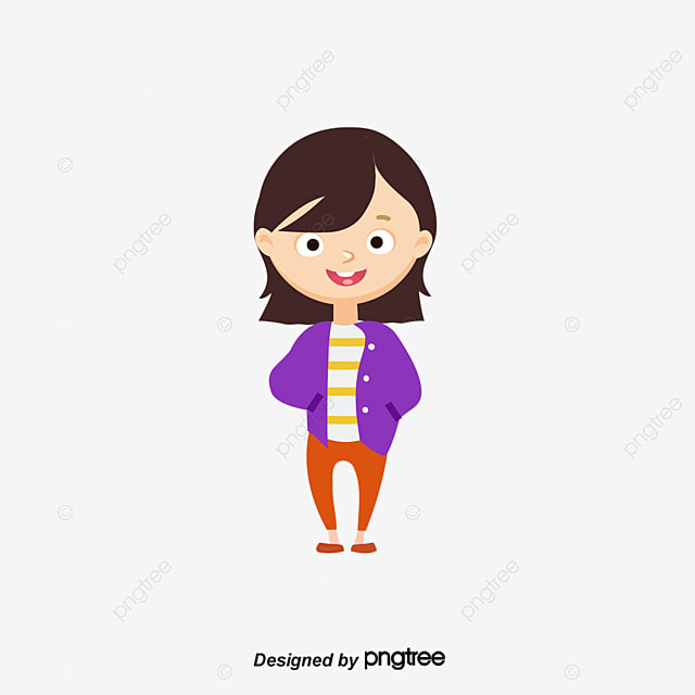 The little girl with glasses, Cartoon, Cartoon Characters, Vector Characters PNG and Vector for ...