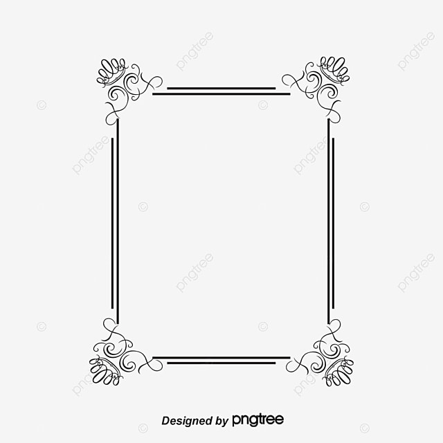 Simple Border Text Vertical Lovely Borders Frame Calligraphy PNG And