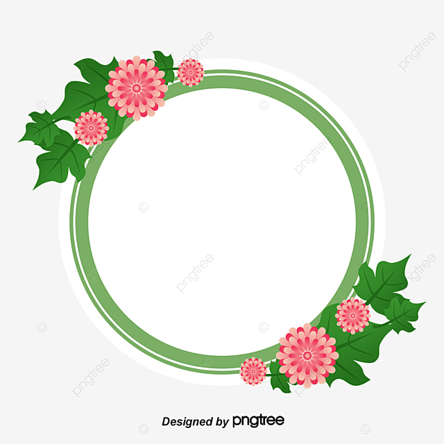 Round Border, Small Fresh, Roses, Pink Flowers PNG Image ...