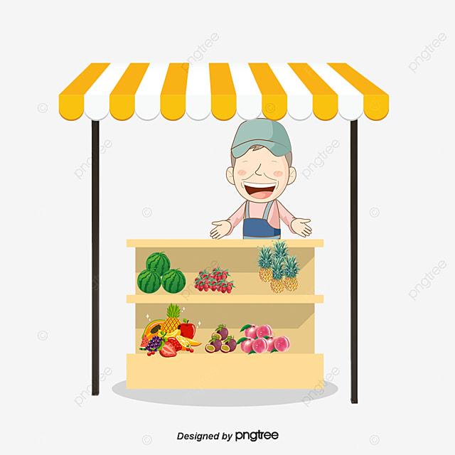 ขายผักและผลไม้เวกเตอร์การ์ตูนของลุง ตลาดอาหาร ตลาดอาหาร