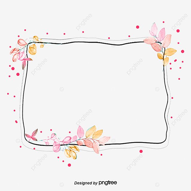 Hand painted watercolor vector decorative frame, Hand ...