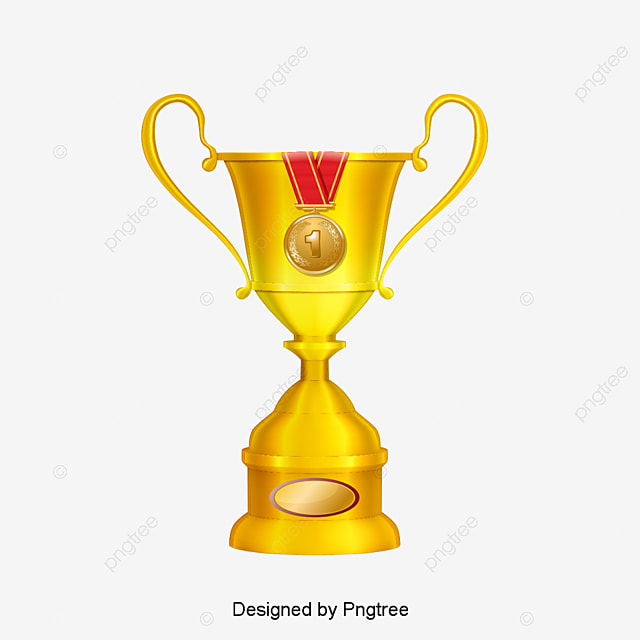 Golden Trophy Gold PNG And Vector